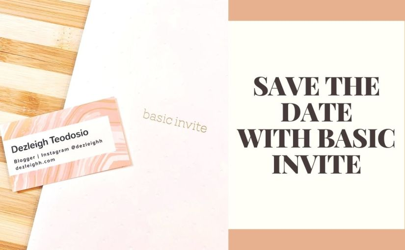 SAVE THE DATE… WITH BASICINVITE!